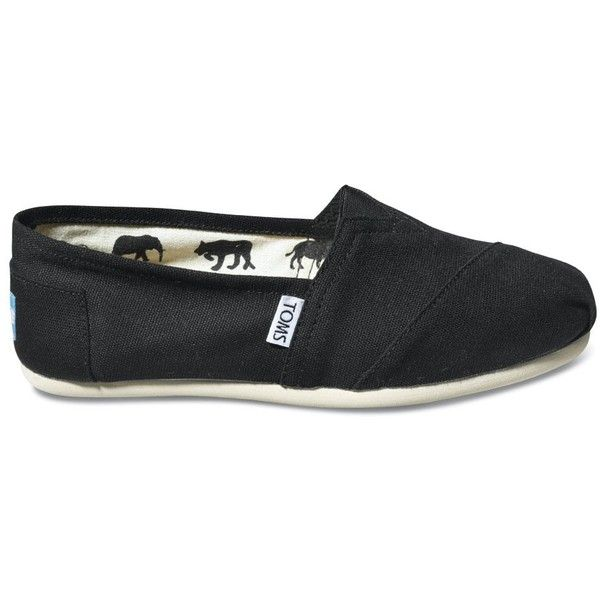 TOMS Shoes Classic Canvas Black Slip-on Shoes Men 11 ($44) ❤ liked on Polyvore featuring men's fashion, men's shoes, shoes, toms, mens flats, mens slipon shoes, mens canvas slip on shoes, mens canvas shoes and mens black canvas shoes