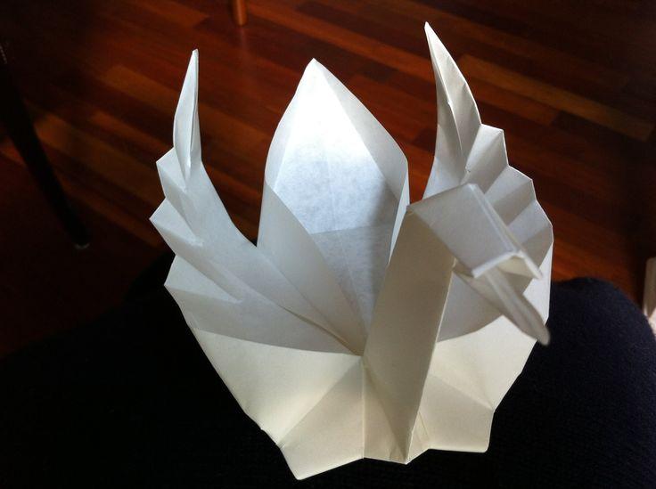 Origami Schwan Faltanleitung, für schwimmenden Schwan mit Kerze, (deutsch) Modell von Jannie van Schuylenburg Musik von: Pierre Ferraux, Ivan Dolunov, Felix ...