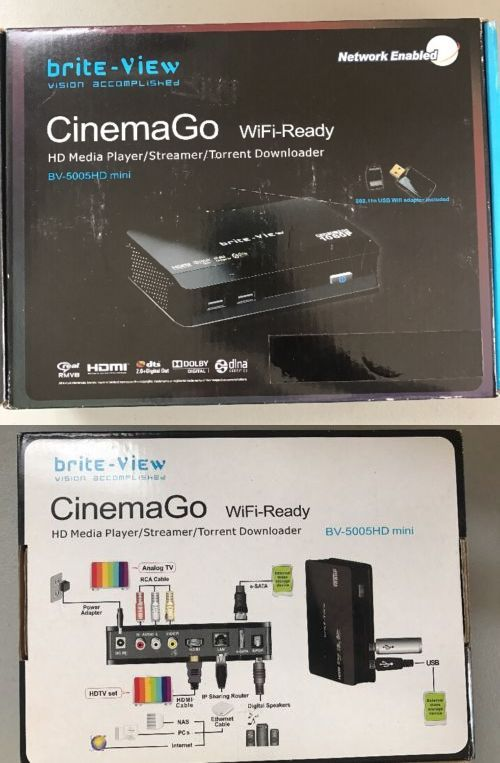Stereo Receivers: Brite View Cinemago - Hd Media Player Streamer Torrent Downloader - Brand New -> BUY IT NOW ONLY: $300 on eBay!