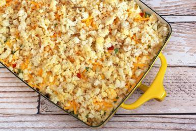 Tuna, Cheese, and Rice Casserole: Tuna and Rice Casserole