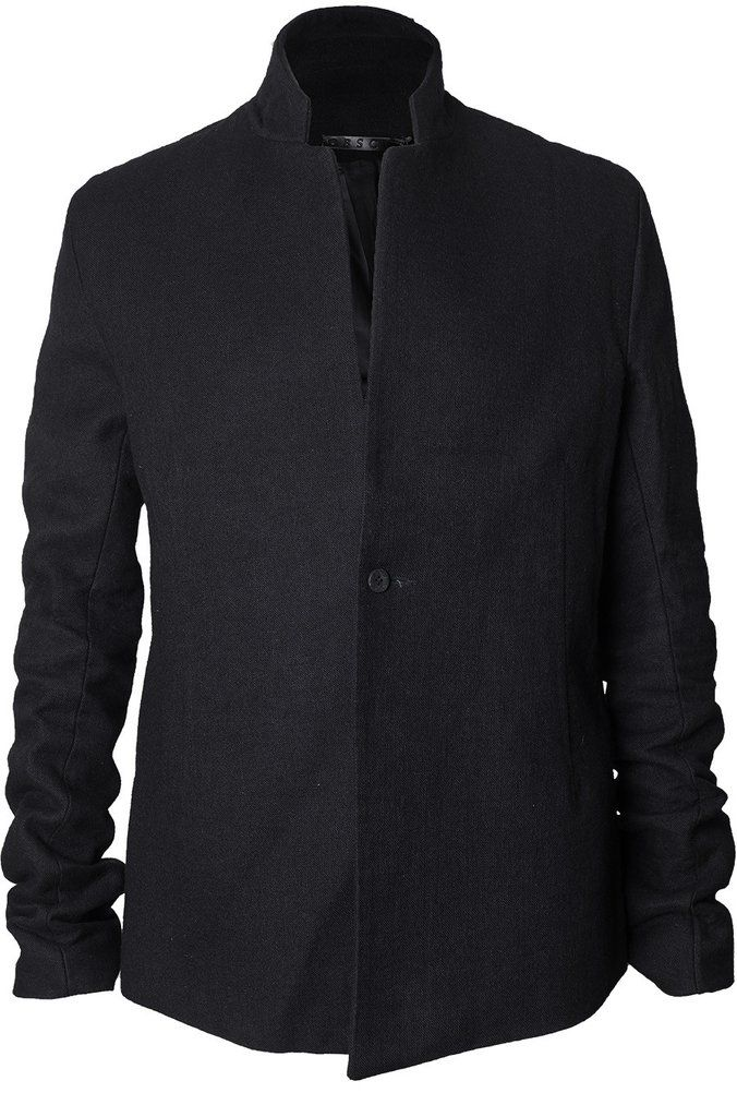 Obscur | Half raglan shoulder wool linen blend jacket