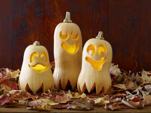 Don't limit yourself to pumpkins, try making a butternut squash jack-o-lantern for a goofier effect.