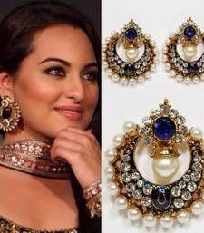 moKanc - Sonakshi Bollywood Replica Earrings in Blue