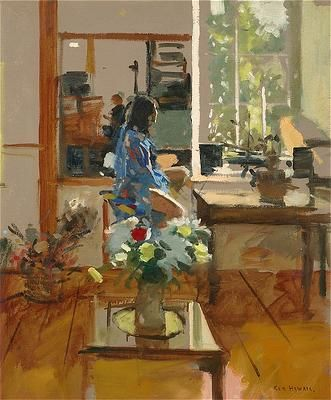 Ken Howard - Sarah Blue and Orange '04 by Ken Howard. Oil on canvas, 61 x 50.8 cm
