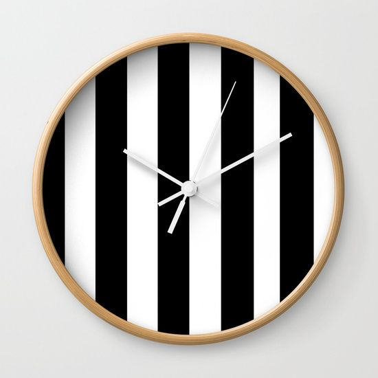 Stripes Wall Clock by Bravely Optimistic | Society6