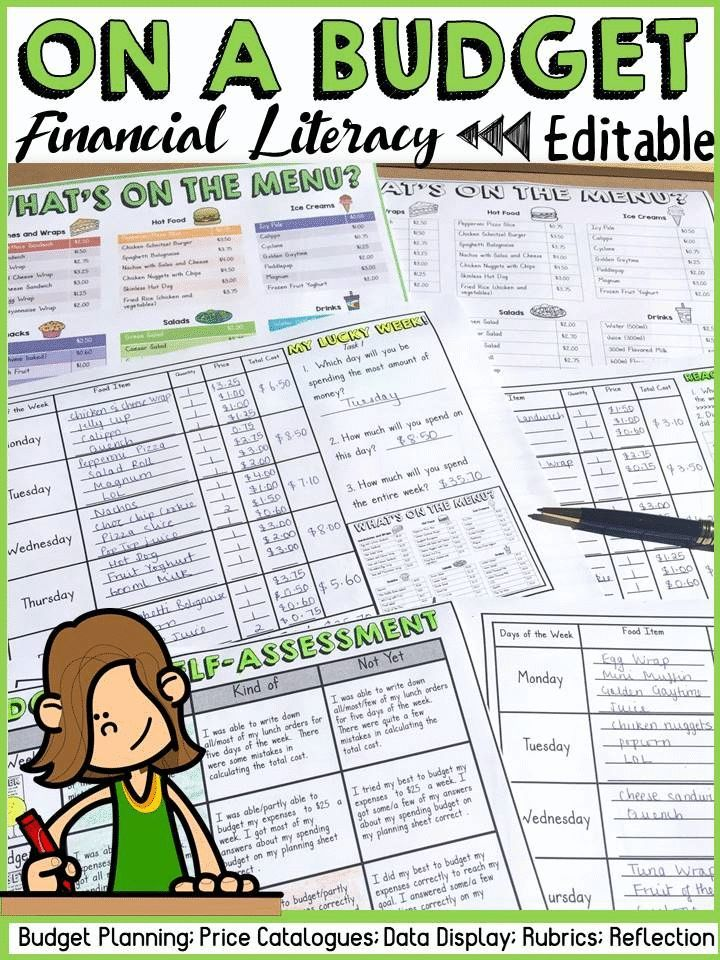Budgeting financial planning and graphing: financial