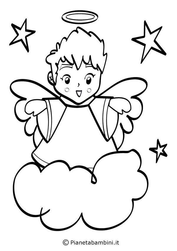 18 disegni di angeli da colorare amigrumi colori for Disegni da colorare angeli