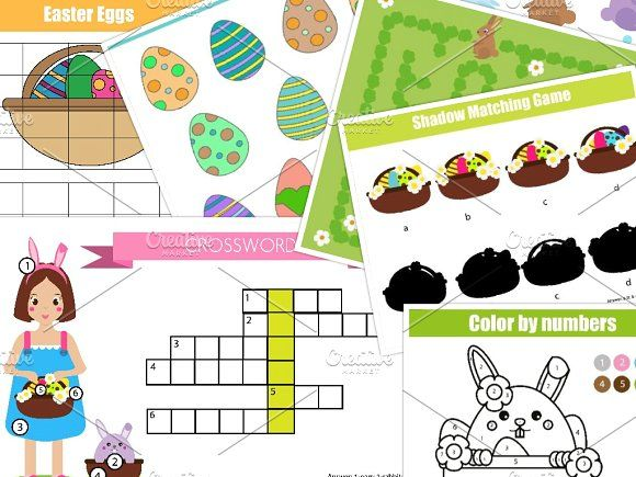 Easter kids activity Education game by KSU's Little Shop on @creativemarket