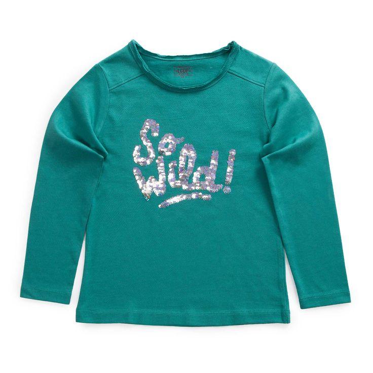 "T-shirt à sequins magiques ""GIRLY JUNGLE"""