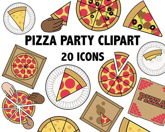 PIZZA PARTY CLIPART - Printable Pizza Images -pizza parlor ...