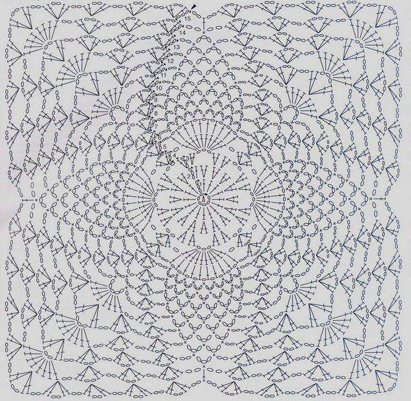 crochet diagram square pattern