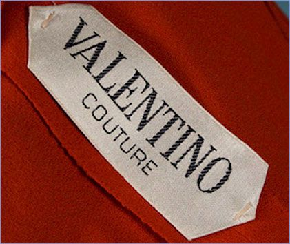 Valentino Label.... if you can't collect the clothes, maybe you can collect the labels!