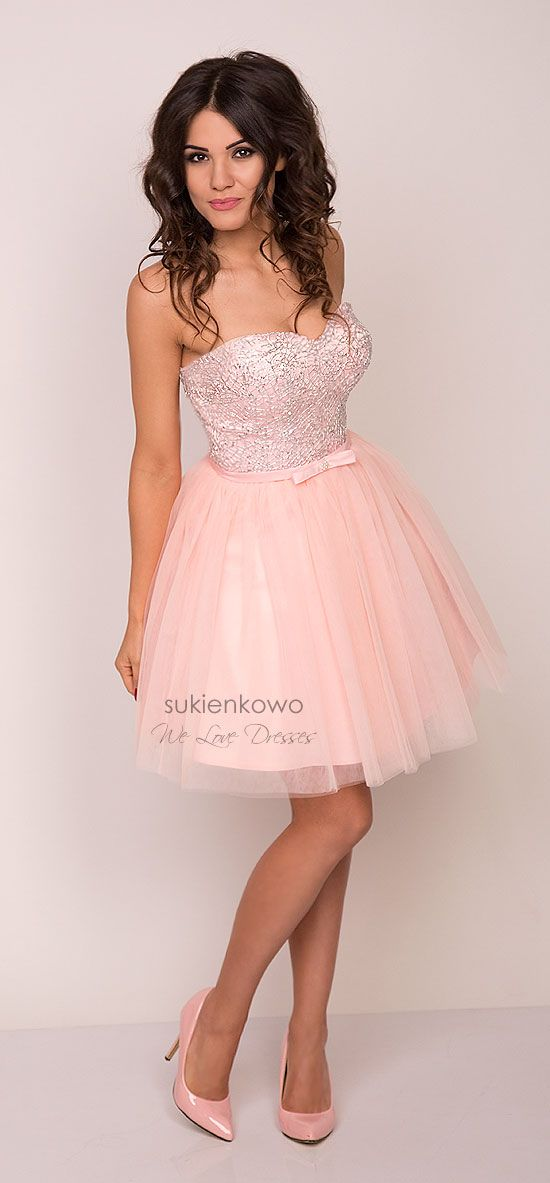 AMANDA gorsetowa rozkloszowana sukienka różowa