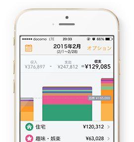 銀行やカードをつなげばお金の流れを自動でグラフ化!