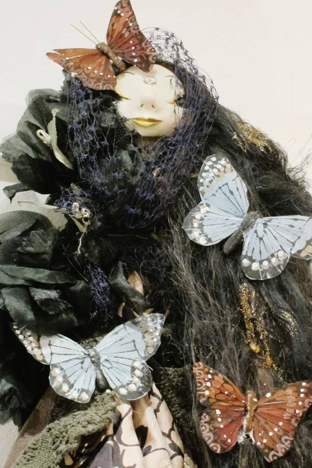"Art doll by Tuija Leinonen, called ""Runsauden antaja"" (Abundance Giver)"