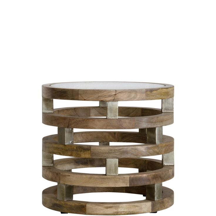 Ring Wood Side Table Price R3 495 Ring Wood Side Table      Overview     Details  Product Code:     ACCIND0991 Origin:     India Colour:     Natural Finish:     Natural Wax Material:     Toughened Glass,MangoWood,Silver Foil Size:     L 510mm | W 510mm | H 460mm Weight:     36 kg Volume:     0.242 m³ Range:     Ring Wood