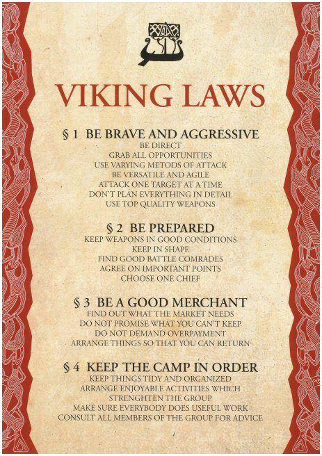 Viking Laws. Them vikings was on to something.