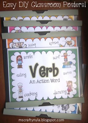 Free Printable Classroom Posters for Parts of Speech #grammar