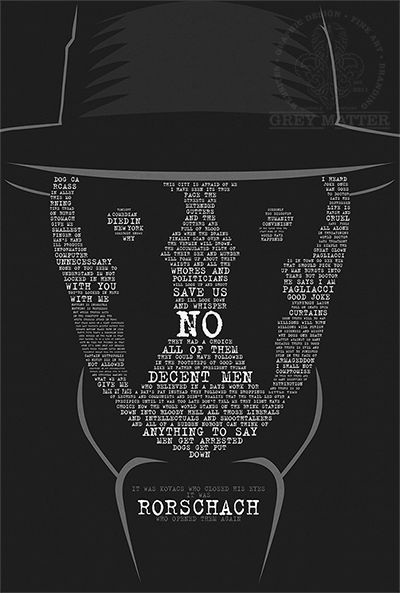 Rorschach Watchmen Quote Print by ~MarkItZeroNET on deviantART