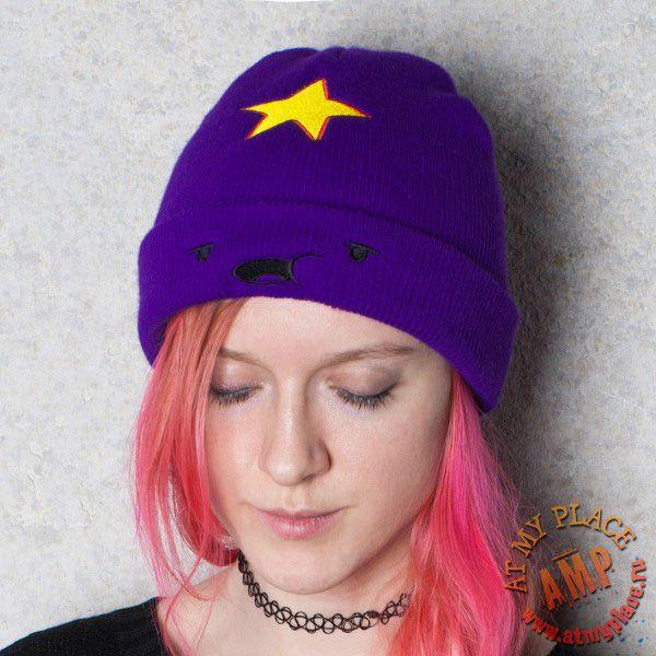 Вышивка на вязаной шапке Принцессы Пупырки