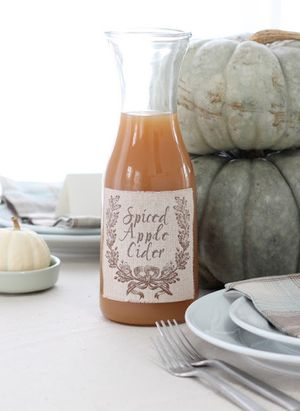 DIY Fabric Labels (and MORE fabulous fall entertaining ideas!)