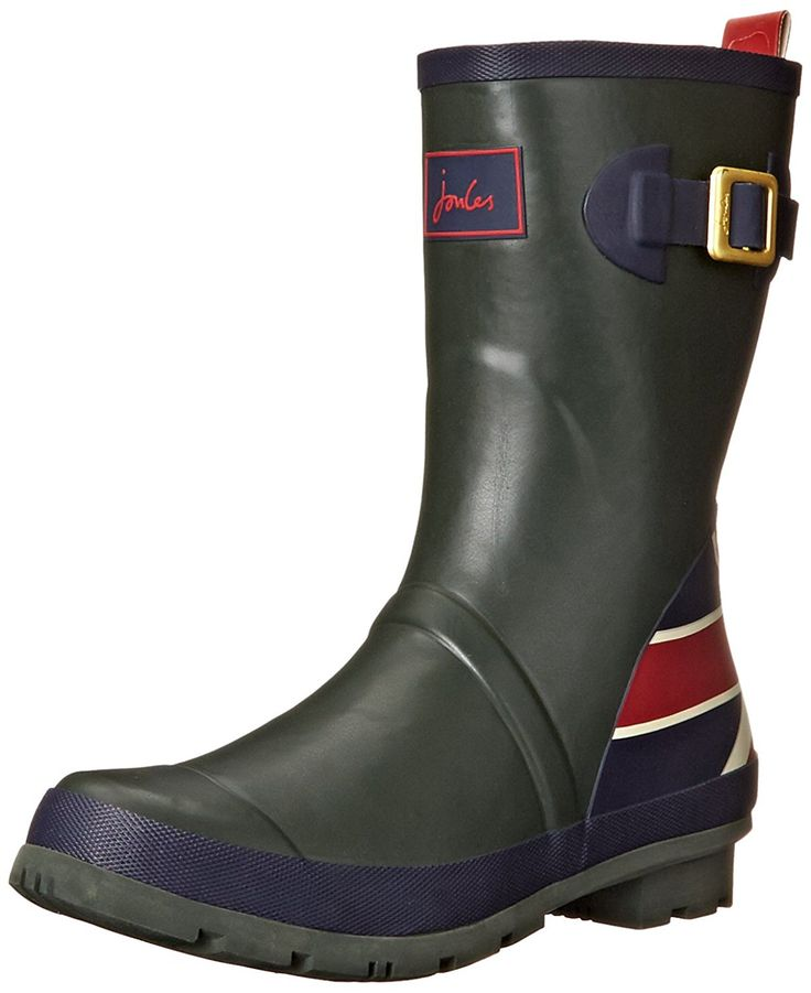 Joules Women's Britannia Short Welly Rain Boot ** To view further for this item, visit the image link.
