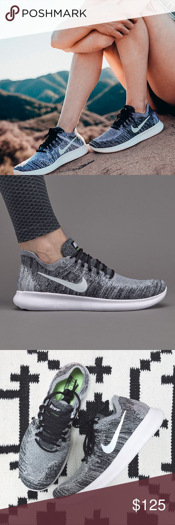 Nike Oreo Free RN Flyknit Sneakers •Oreo Flyknit Sneakers  •Women's size 8, true to size.  •New in box, no lid.  •No trades. No holds. Nike Shoes Sneakers