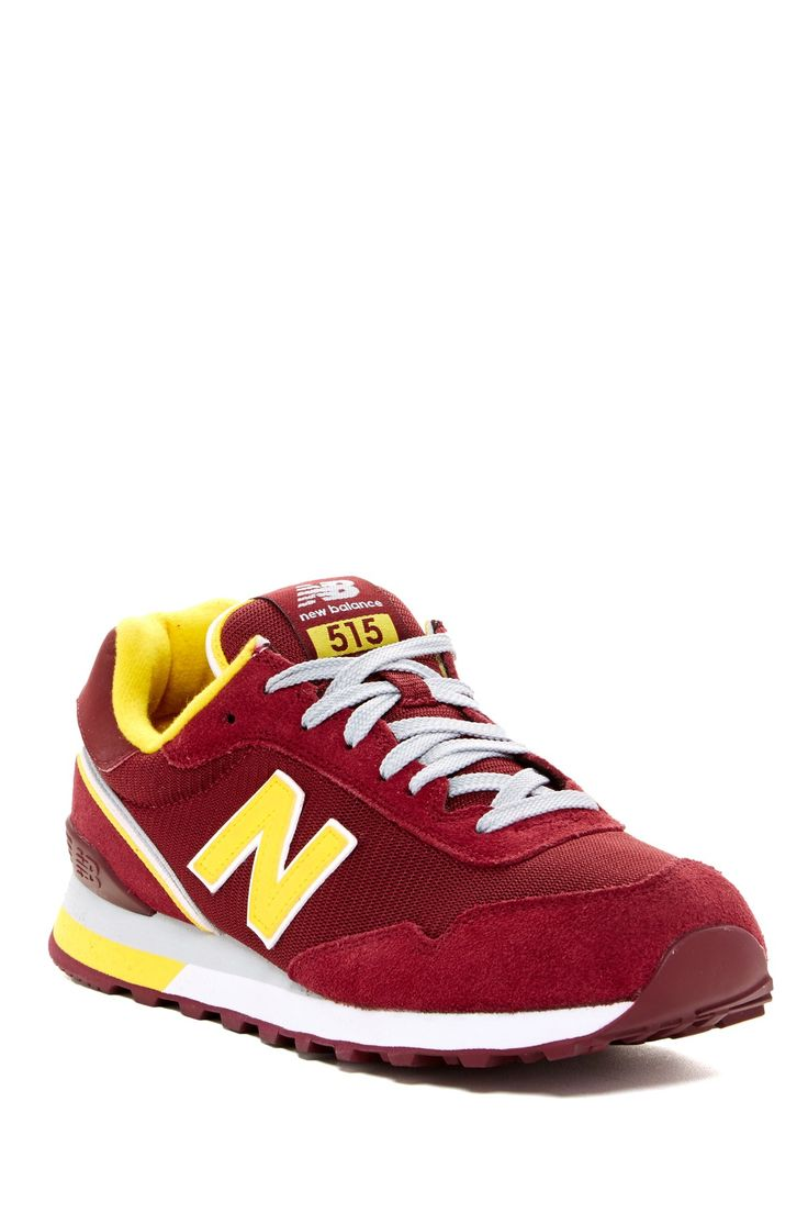 New balance recycled shoes - New Balance 515 Classic Burgundy Yellow