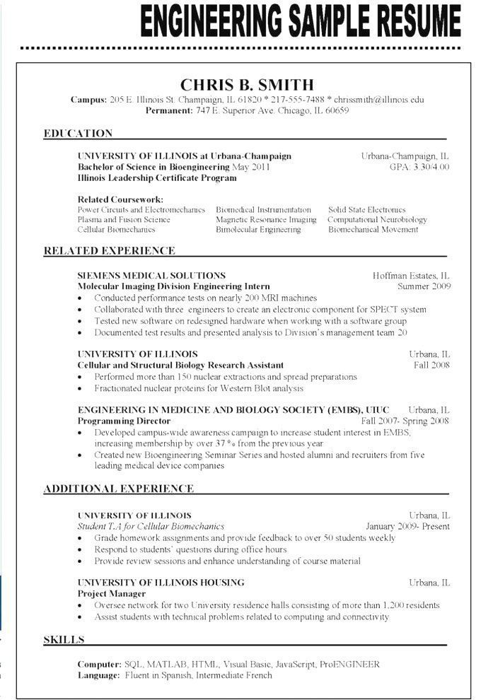 Resume Examples 2018 Engineering Engineering Examples Resume Resumeexamples Resume Examples Engineering Resume Resume