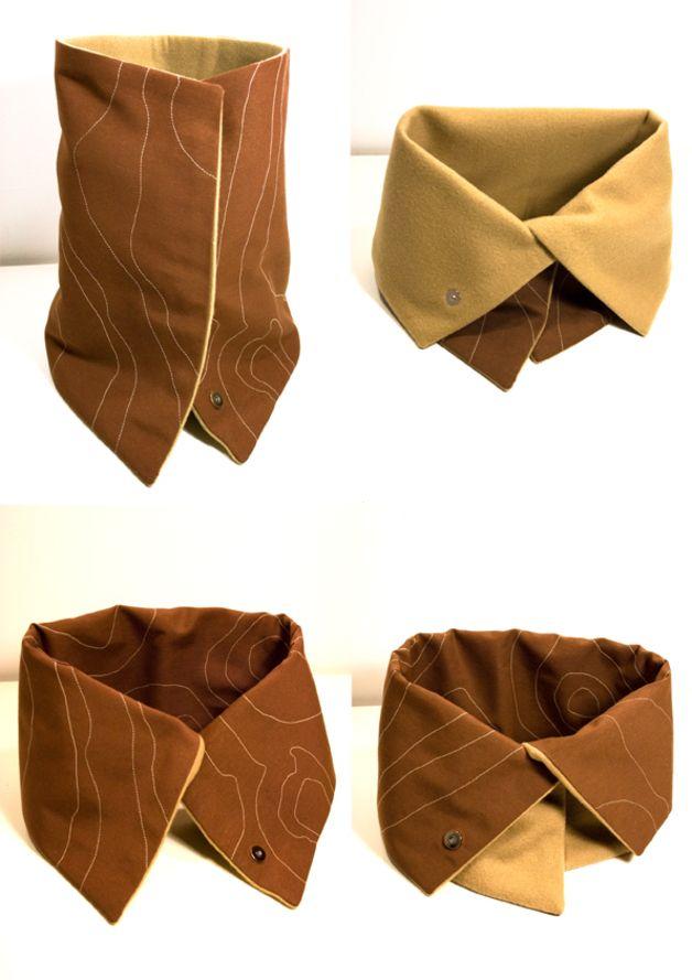 neck warmer scarfhttp://es.dawanda.com/product/56198199-cuello-mauna-loa-mauna-kea--marron-polar-beige