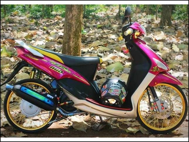 22 Gambar Modifikasi Motor Mio Smile Simple Motor Biru Warna