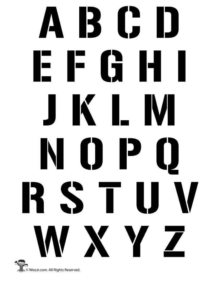 Resource image throughout alphabet stencil printable