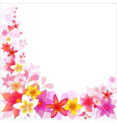 Floral border vector by iadamson - Image #400115 - VectorStock
