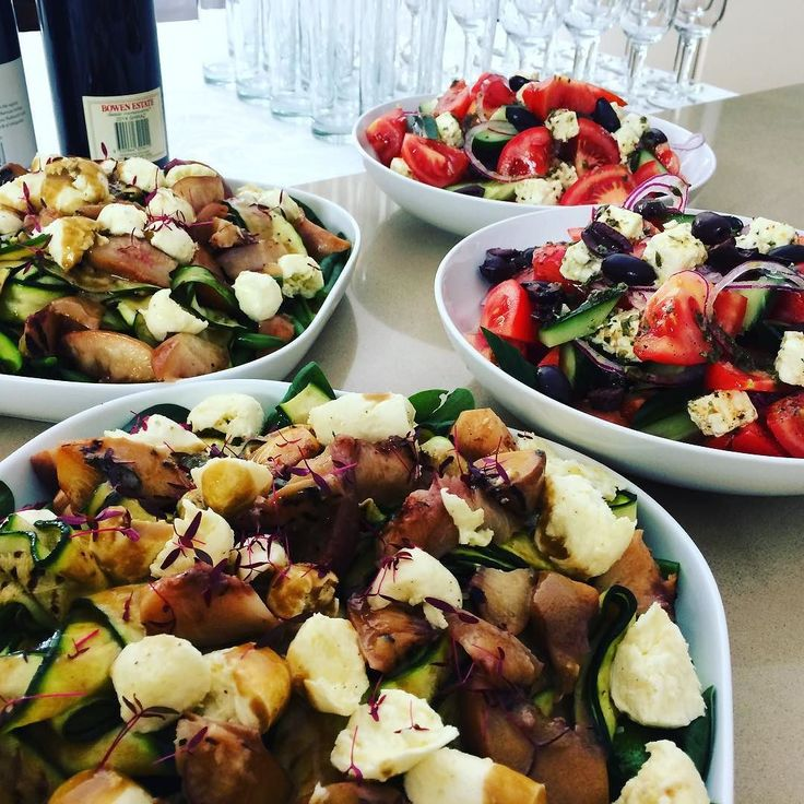 Salads ready for service... #entertainingwithfigmint #salads #healthyeats #dinnerparty #figmintcatering