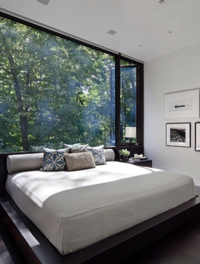 modern bedroom designs%0A What window treatments would you choose for this modern bedroom