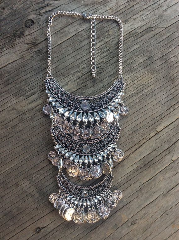 Statement Necklace, Bib Necklace, Necklace, Bohemian Necklace, Boho Necklace, Festival Necklace