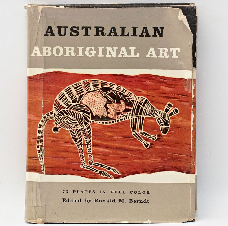 Australian Aboriginal Art by Ronald Berndt, with bark paintings, carved figures