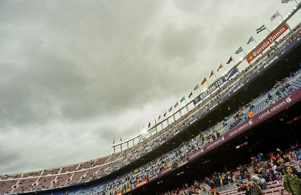 A view of Camp Nou Stadium, home of FC Barcelona before the La Liga match between FC Barcelona and Malaga CF at Camp Nou stadium on November 19, 2016 in Barcelona, Catalonia.