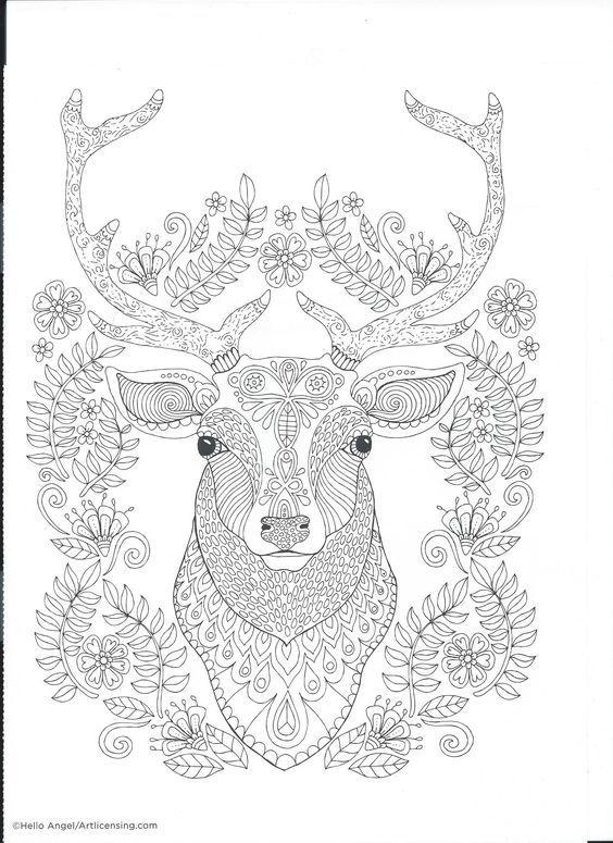 300 besten coloring deer Bilder auf Pinterest | Färben, Reh und Stress