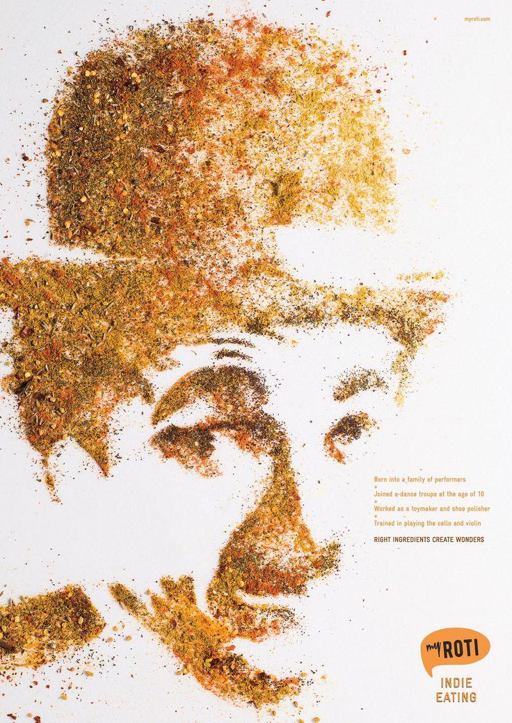 My Roti: Charlie Chaplin | Ads of the World™
