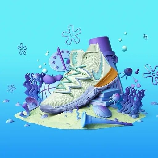 Here Comes For You Nike Kyrie 5 Squidward Limited Edition
