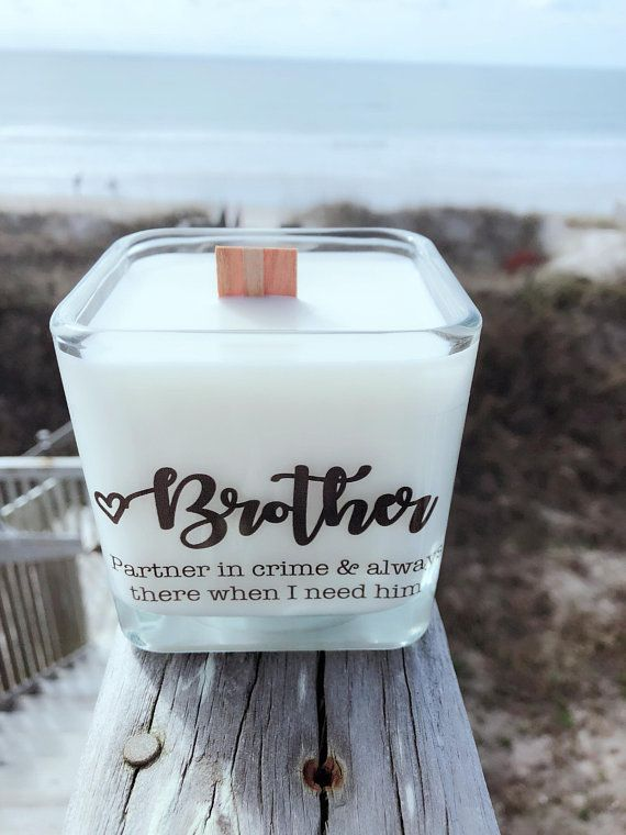 NEW Brother Soy CandleBrother GiftsGroomsman GiftsBridesmaid Gifts In Law GiftBrother Birthday WeddingFathers Day