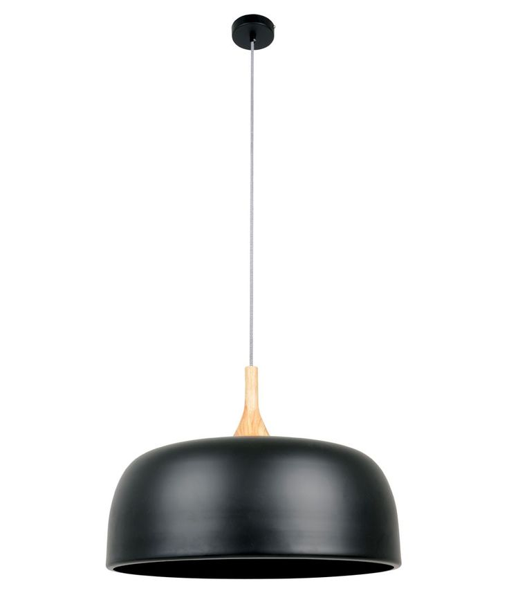 Sunraysia 520mm Pendant in Matt Black/Ash | Modern Pendants | Pendant Lights | Lighting $199