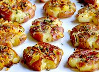 Smashed Red Potatoes Recipe - LoveThatFood.com