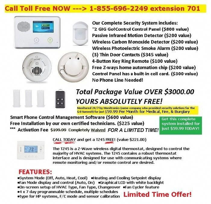 free home security system with free installation