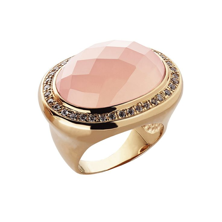 Oxette Powdered Pink Ring - Couture Collection - Available here http://www.oxette.gr/kosmimata/daktulidia/silver-rose-gold-plated-ring-pink-opal-oxette-599l-1/       #oxette #OXETTEring #jewellery