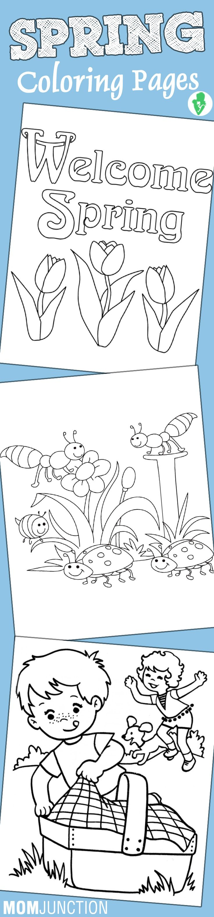 Online coloring kindergarten - Top 35 Free Printable Spring Coloring Pages Online