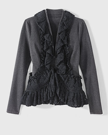 Newport News ruffle jacket