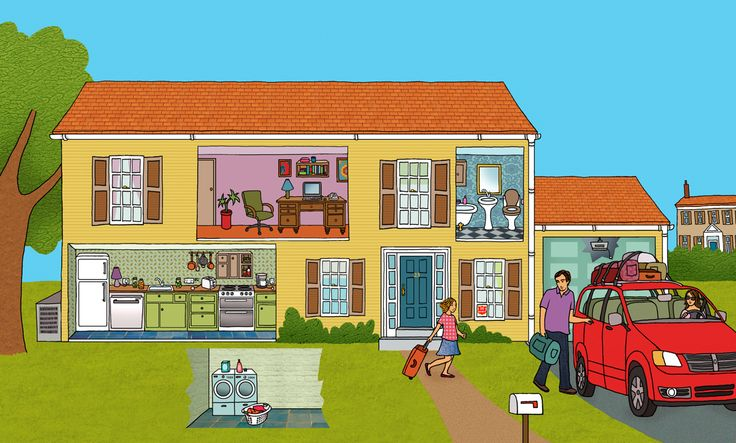 #emmabrownjohn #newdivision #illustration #digital #line #stylised #garden #house #outdoors #family