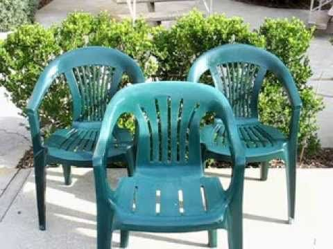 Budget Garden HowTo   Restoring Those Basic Plastic Patio Chairs On The  Cheap   YouTube